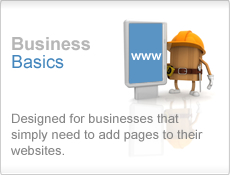 Business Basics - Designed for businesses that simply need to add pages to their websites.