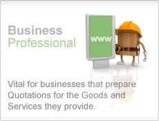 Business Professional - Vital for businesses that prepare Quotations for the Goods and Services they provide.